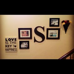 My staircase decor. I really like how it turned out ;)