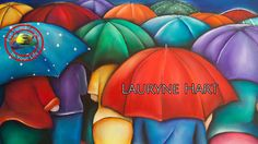 Fine Art Show with Lauryne Hart with her wonderful colourful large paint. Large Painting, Artist At Work, Art Tutorials, Favorite Tv Shows, Watercolor Art, Paint Colors, Projects To Try, Arts And Crafts, Vibrant