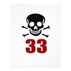 #33 Birthday Designs Letterhead - #giftidea #gift #present #idea #number #33 #thirty-third #thirty #thirtythird #bday #birthday #33rdbirthday #party #anniversary #33rd