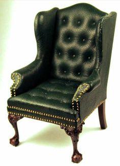 Gail Steffey Dollhouse Miniature Leather Furniture 320