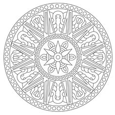 Mandala Coloring Pages, Colouring Pages, Adult Coloring Pages, Coloring Sheets, Coloring Books, Mandala Painting, Mandala Drawing, Stone Painting, Color Me Badd