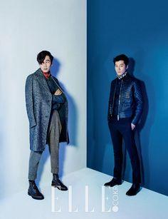 Lee Chun Hee and Lee Kwang Soo - Elle Magazine November Issue Running Man Cast, Master's Sun, Kwang Soo, Elle Magazine, Best Shows Ever, Pisces, Giraffe, Bae, November