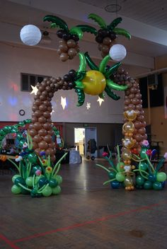 The Great Palm Entrance. Designed by Balloons By Night Moods in Juneau, Alaska. 523-1099