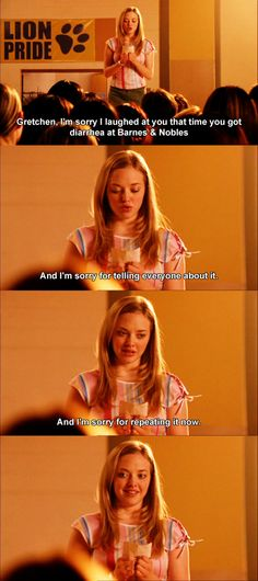 Mean Girls (2003) - Movie Quotes #meangirls #meangirlsquotes.