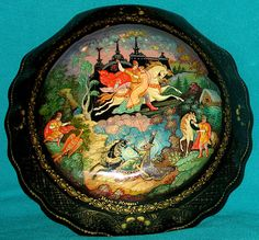 """Maria Morevna"" Russian Fairy Tale Hand Painted Palekh Lacquer Box | eBay"