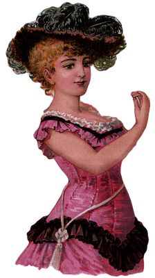 FREE Vintage Printable - Victorian Lady {She could be holding a sammie, or a fan...}