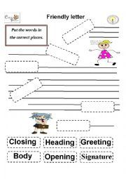 Parts of a Letter Activity | letter it is a worksheet to identify the parts of the informal letter ...