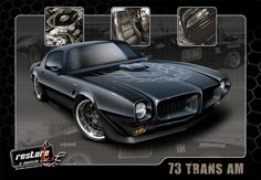 1973 Trans Am Pro-Touring, Custom Frame off Restoration. More info & photos at: http://www.restoreamusclecar.com/restore/view_details?fdid=938634 #Trans Am