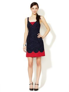 Tracy Reese Tri-Color Lace Sheath