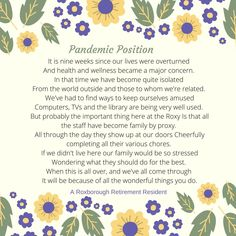 Another beautiful poem written by one of our Roxborough Retirement residents in Newmarket 😊 #kindness #thankyou #community #verveseniorliving Health And Wellness, Health Care, Senior Living Communities, Wellness Activities, Poems Beautiful, Above And Beyond, Retirement, How To Become, Community