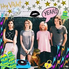 ☆ Hey Violet ☆ i love then smmm Hey Violet, Violet Aesthetic, Celebrity Singers, 5 Sos, Concert Posters, Grunge Fashion, Moonlight, Diys, Queens