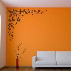 Corner Wall Art embellishment corner floral decorative wall stickers wall art