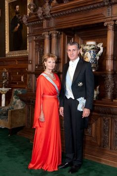 Princess Margarita of Romania and Prince Radu (Principesa Margareta a Romaniei si Principele Radu) Parma, Royal Dresses, Gala Dresses, Royal Life, Royal House, Romanian Royal Family, Royal Families Of Europe, Royal Monarchy, Grand Duchess Olga