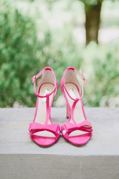 fuchsia wedding shoes
