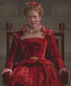Elizabeth (1998) Elizabeth's red velvet gown