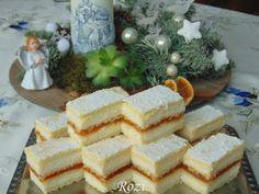 Rozi Erdélyi konyhája: Mimóza szelet Hungarian Desserts, Hungarian Recipes, Cream Cheese Bread, Cookie Recipes, Dessert Recipes, Salty Snacks, Cake Bars, Sweet And Salty, Cake Cookies