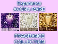 You have to try Avon's Rare Collection; Rare Gold, Rare Amethyst, and Rare Pearls.  Thes scents are just fantastic!.  They all come in Eau de Parfum, Shower Gel, and Body Lotion. They are all on special right now. Visit my eStore to see our complete line of fragrances at: www.youravon.com/lindabacho #avonrep  #avonfragrances