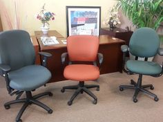 Are you ready to experience major savings on Showroom Office Chairs? Dive into our selection online or stop by and check out our even wider selection in person. We can help you find the best office furniture that compliments your business and budget.  Call us today 727-561-0325! http://furniturebygeorge.com/used-office-furniture/showroom-office-chairs #clearwater #tampa #showroom #office #chair #chairs #sale #onsale