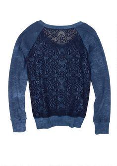 Crochet Back Pullover (chic sweatshirt trend)