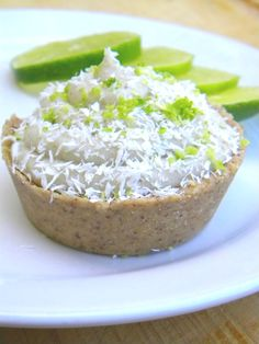 Lime in the Coconut Cream PIe. #raw.