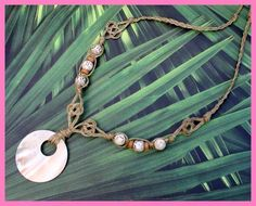hemp necklace...macrame style