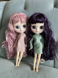 """12/"""" Neo Blythe Doll from Factory Nude Jointed Body Matte Face Long Mango Hair"""