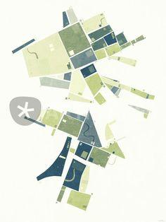 """""""The Lower Field"""" Grafik/Illustration von Nic Squirrell jetzt als Poster, Kunstdruck oder Grußkarte kaufen.."""
