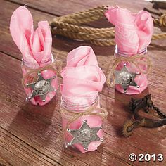 Cowgirl Themed Baby Shower | Pink Cowgirl Favors - Oriental Trading