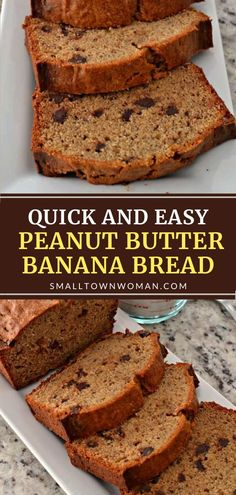 This back to school breakfast idea is quick to fix! This dependable recipe for Peanut Butter Banana Bread is easy to make and freezer-friendly. Your family will love a delectable loaf of this moist quick bread! Add walnuts, pecans, and chocolate chips for more flavor! Peanut Butter Banana Bread, Healthy Banana Bread, Peanut Butter Recipes, Pecan Recipes, Best Dessert Recipes, Fun Desserts, Bread Recipes, Chocolate Desserts, Chocolate Chips