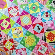 Economy Block Quilt in Progress & Tutorial Red Pepper Quilts - So adorable!