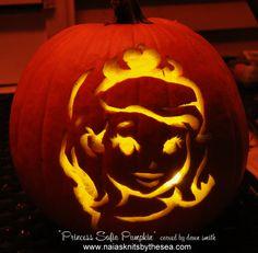 Princess Sofia Inspired Jack o Lantern Pumpkin  www.naiasknitsbythesea.com
