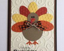 Handmade Turkey Thanksgiving Card