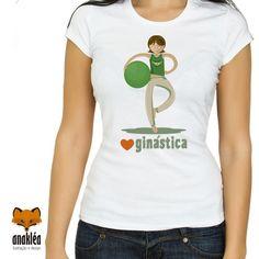 Camiseta - Amo Ginástica V Neck, T Shirt, Women, Fashion, Color, Block Prints, Outfits, Buddha, Supreme T Shirt