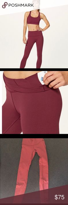 Lululemon wunder under leggings High waisted wunder under leggings. Deep rouge is the color. Tag is removed but I promise it's a size 4. Perfect condition just trying to downsize my closet. lululemon athletica Pants Leggings