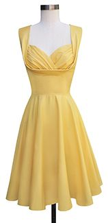 Trashy Diva Honey Dress honey1-yellowpoplin