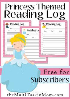 *FREE* Princess Reading Logs