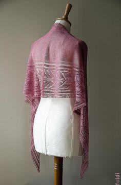 Tricot écharpe en dentelle foulard en soie de lacet châle par foldi