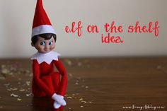 Happy December! How is it already December?! This year has FLOWN by! I can't believe we are already decking the halls and trimming the tree, but we are!  I am a huge fan of the concept of Elf on the Shelf. Our elf's name is Dwight...after Dwight Eisenhower...We keep it presidential around... - http://www.fancyashley.com/2013/12/01/fun-elf-on-the-shelf-ideas/