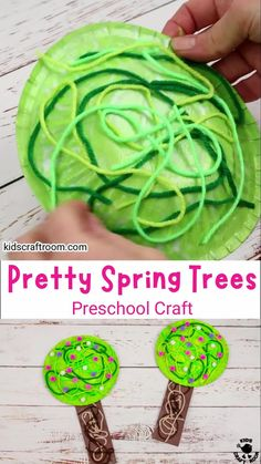 This Paper Bowl Spring Tree Craft is so pretty. Make gorgeous blossom trees from paper bowls and yarn! A lovely tactile spring craft for preschoolers. #kidscraftroom #kidscrafts #springcrafts #cherryblossom Creative Activities For Kids, Creative Arts And Crafts, Crafts For Kids To Make, Diy Crafts To Sell, Kids Crafts, Toddler Crafts, Preschool Crafts, Easy Art Projects, Spring Projects