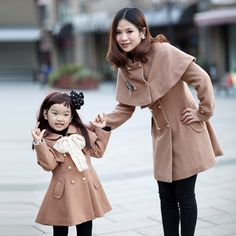 Camel fashion cloak female child outerwear family fashion 2012 autumn winter clothes for mother and daughter-in Clothing Sets from Apparel & Accessories on Aliexpress.com