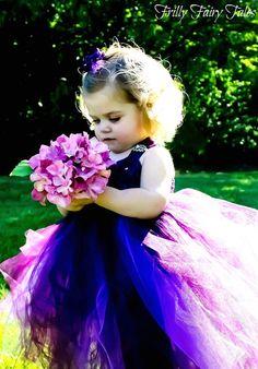 Plum & Violet Flower Girl Dress by FrillyFairyTales on Etsy, $90.00