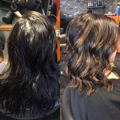 I love bringing dark hair to life with a warm balayage! #tlgbeautylounge