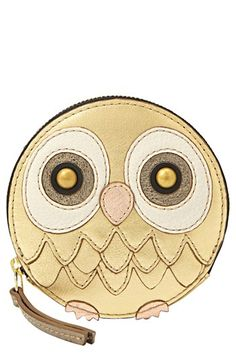 Fossil's Owl Zip Coin For holiday party animals, Fossil's charming owl coin pouch shines with whimsy. Owl Purse, Owl Always Love You, Fossil Watches, Owl Jewelry, Owl Art, Animal Party, Party Animals, Cute Owl, Handbag Accessories