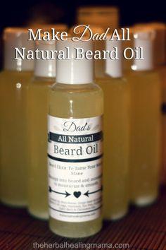 Hacer papá All Natural Barba aceite Para el Día del Padre! | La curación de hierbas Mama