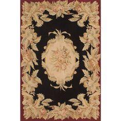 eCarpetGallery Handmade French Tapestry and Red Wool Sumak Rug