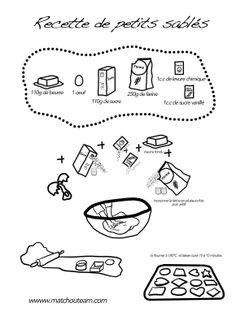 Petits sablés.  www.matchouteam.com recette illustré petit sablé