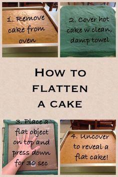How to level a cake without slicing off any cake! by ninakristine kuchen ostern rezepte torten cakes desserts recipes baking baking baking Cake Decorating Techniques, Cake Decorating Tips, Cookie Decorating, Cake Icing, Cupcake Cakes, Buttercream Cake, Cake Tutorial, Creative Cakes, No Bake Cake