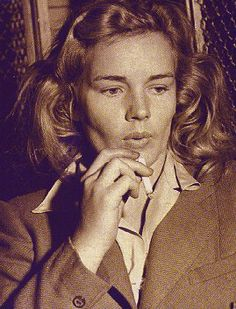 "Frances Farmer in jail 1943. Her rejection of Hollywood would be her eventual demise. Not one Hollywood ""friend"" would help Frances during her times of trouble. She stood on her own and lost her independance, freedom, and reputation.  The breaking point was her steel will to fight, defy, and challenge authority. She never backed down. Ever...  I admire her deeply and repect her for it. MH"