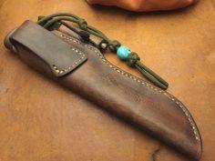 Handgemachte Messer Lederscheide KS003