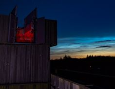 """THE EDGE OF SPACE IS TURNING ELECTRIC BLUE:  Last night, June 2nd, a bright display of NLCs wowed observers across the British Isles. Matt Robinson sends this picture from Kielder Observatory in Northumberland, UK: """"The display started at 11pm and we could tell it was going to be a strong one,"""" says Robinson. """"It carried on and got brighter for a further 2 hours. If this is a sign of things to come, this NLC season is going to be one to remember.""""    SpaceWeather.com -"""